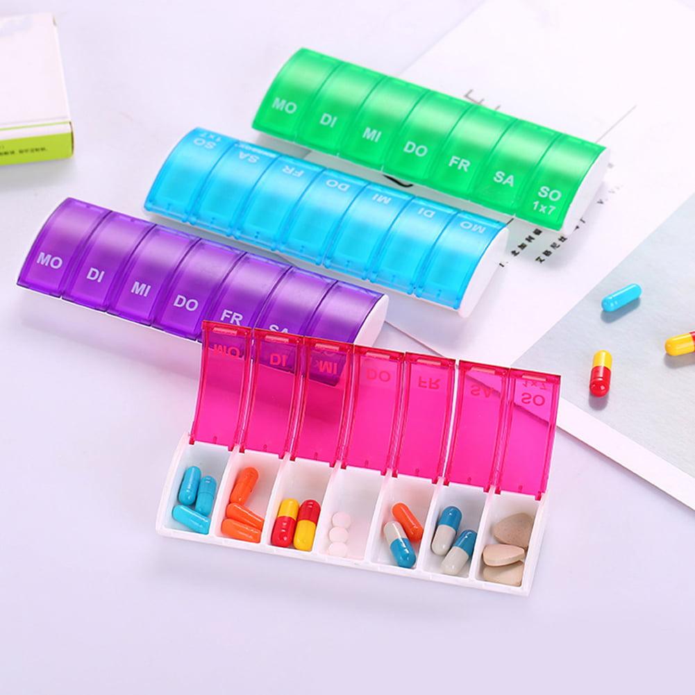 Heepo Medicine Weekly Storage Organizer Pill 7 Day Tablet Sorter Box Container Case