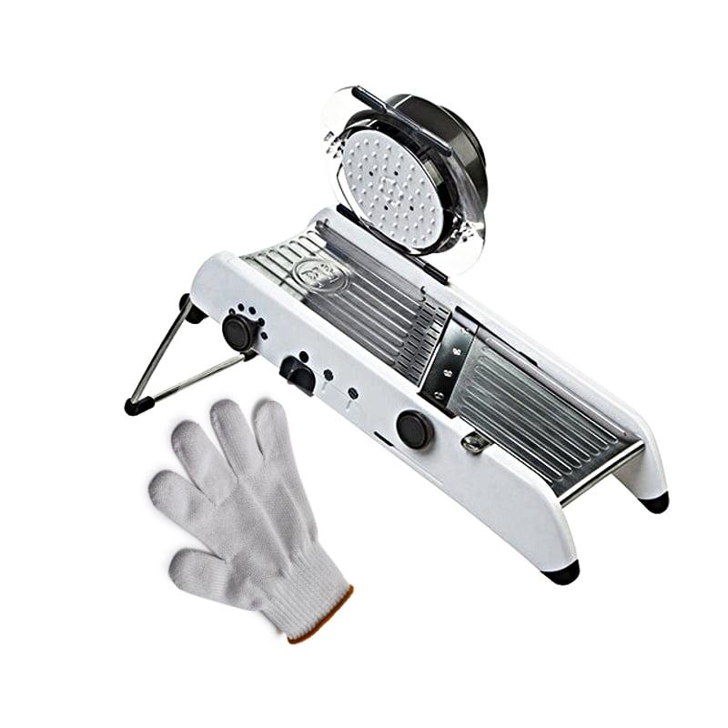 Progressive PL8 Professional Mandoline with Victorinox Ultimate Shield 2 X-Small Cut Resistant Glove