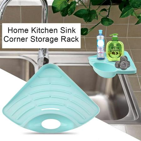 Home Kitchen Sink Corner Storage Rack Solid Color Sponge Holder Organizer Walmart Canada