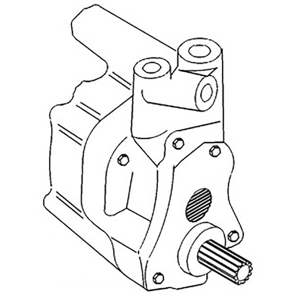 531607M1 New Massey Ferguson Hydraulic Pump 30 1080 1085