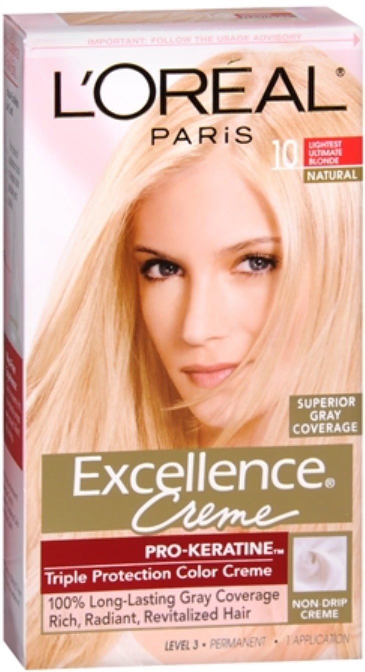 Loreal Paris Excellence Creme Haircolor Lightest Ultimate Blonde