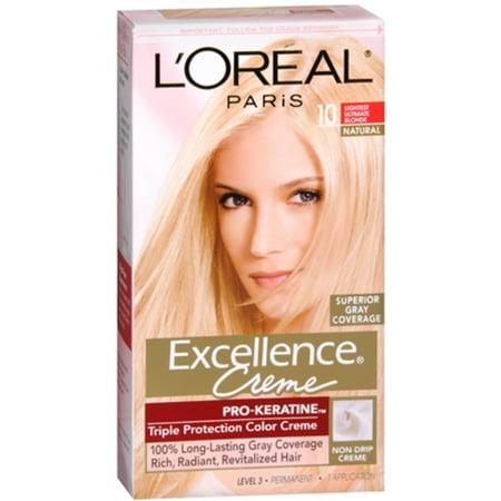 L'Oreal Paris Excellence Creme Haircolor, Lightest Ultimate Blonde [10] 1 ea