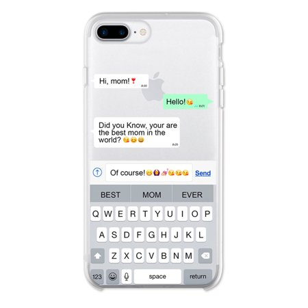 Ish Original Official Text Best Mom Phone Case / Cover Slim Soft TPU for Apple iPhone 8