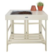 Esschert Design USA CF30G Wood Country Folklore Potting Table, Gray