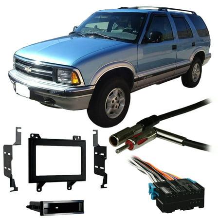 Fits Chevy S-10 Blazer 95-97 Double DIN Stereo Harness Radio Install Dash (Radio Install Wires Chevy Blazer)