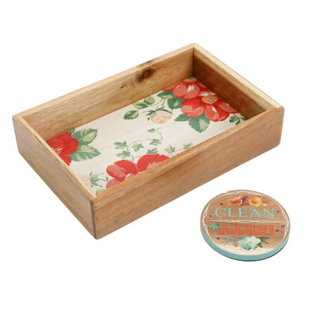 The Pioneer Woman Vintage Floral Organizer And Dishwasher Magnet