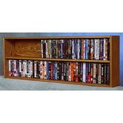 52 in. Wall Mount DVD Storage (Honey Oak)