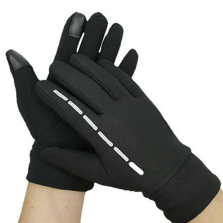 - Winter Warm Outdoor Sports Unisex Cycling Ski Gloves Windstopper Waterproof Screen Touch Gloves Black M