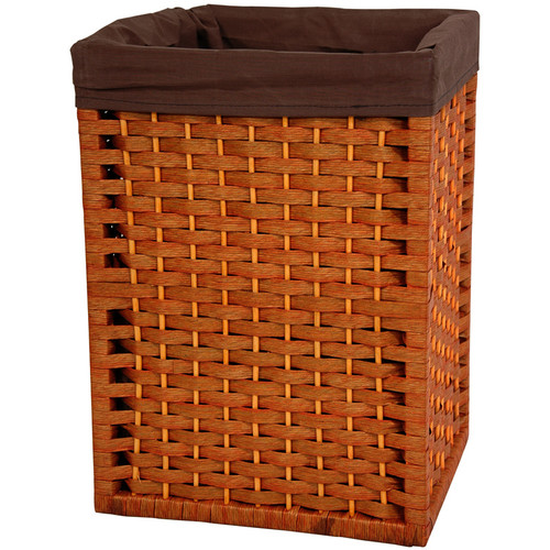 Oriental Furniture 17'' Natural Fiber Basket in Honey