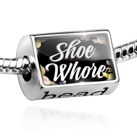 Bead Floral Border Shoe Whore Charm Fits All European Bracelets - Floral Beads