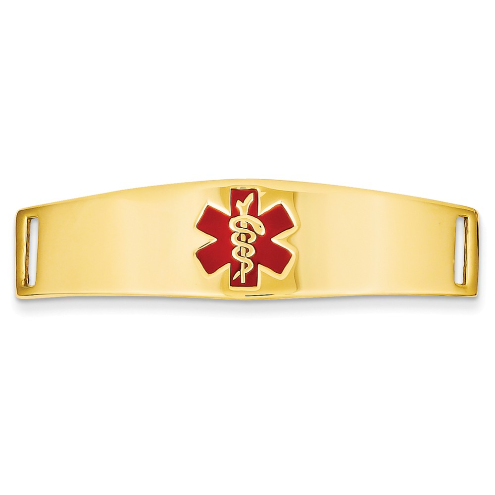 14k Yellow Gold Engravable Medical Jewelry ID Plate