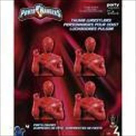 Power Rangers 'Red Ranger' Thumb Wrestlers / Favors (4ct)