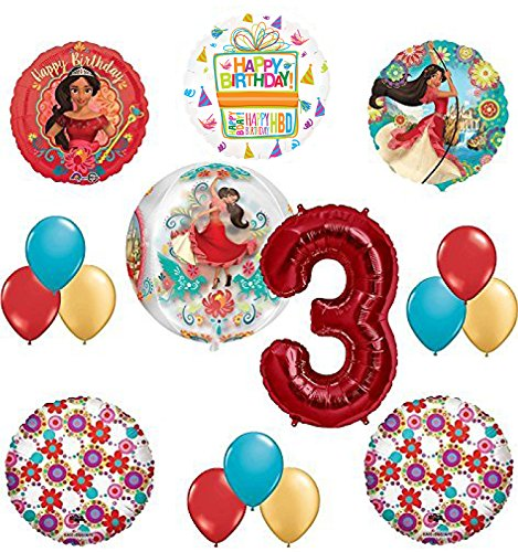 Princess Elena Of Avalor 3rd Birthday Party Supplies Balloon Decoration kit