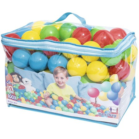 UP IN & OVER Splash & Play 100 Play Balls, 100 high quality plastic balls in carry bag By