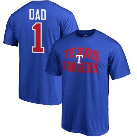 Texas Rangers Fanatics Branded 2019 Father's Day Big & Tall #1 Dad T-Shirt -