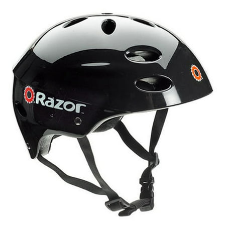 (Razor V17 Youth, Multi-Sport Helmet, Glossy Black, For Ages 8-14)