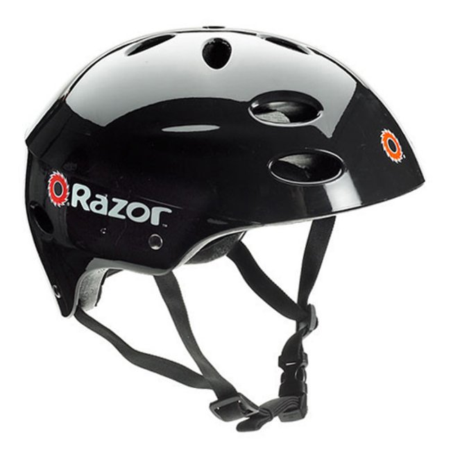 Razor V17 Youth Skateboard/Scooter/Bike Sport Helmet, Glossy Black | 97778