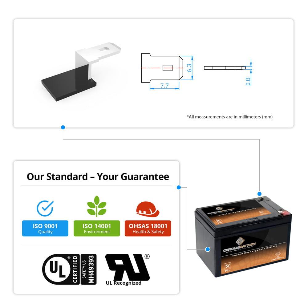 12V 15AH SLA Battery Replaces fp12120 wp10-12 00801-1460 tr12-12