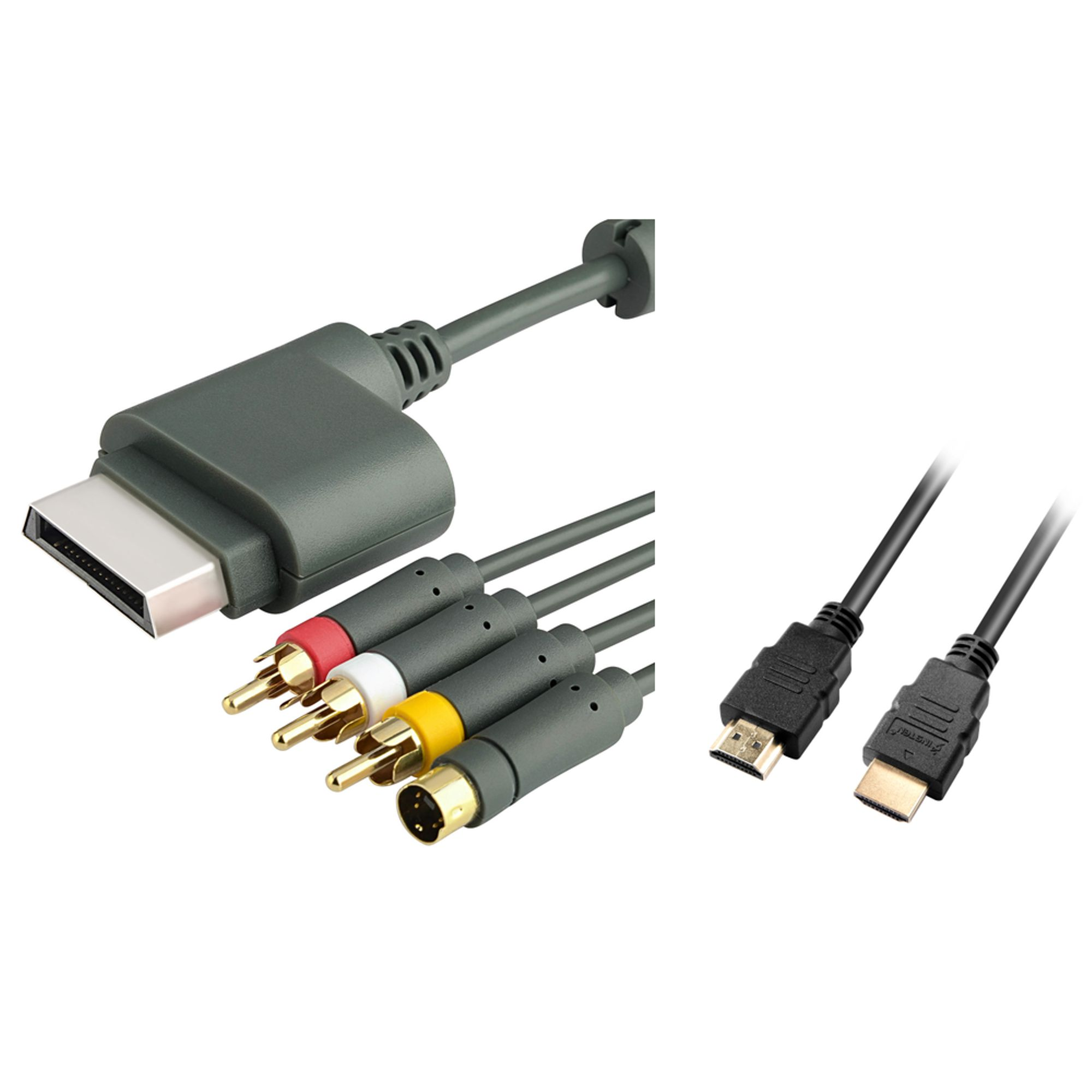 Insten 3 Feet 3Ft HDMI v1.3 Cable M/M 1080p + AV Composite s-Video Cable For Xbox 360