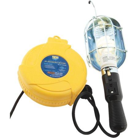 Light Cord Reel - alert stamping 920dt incandescent plastic retractable cord reel work light
