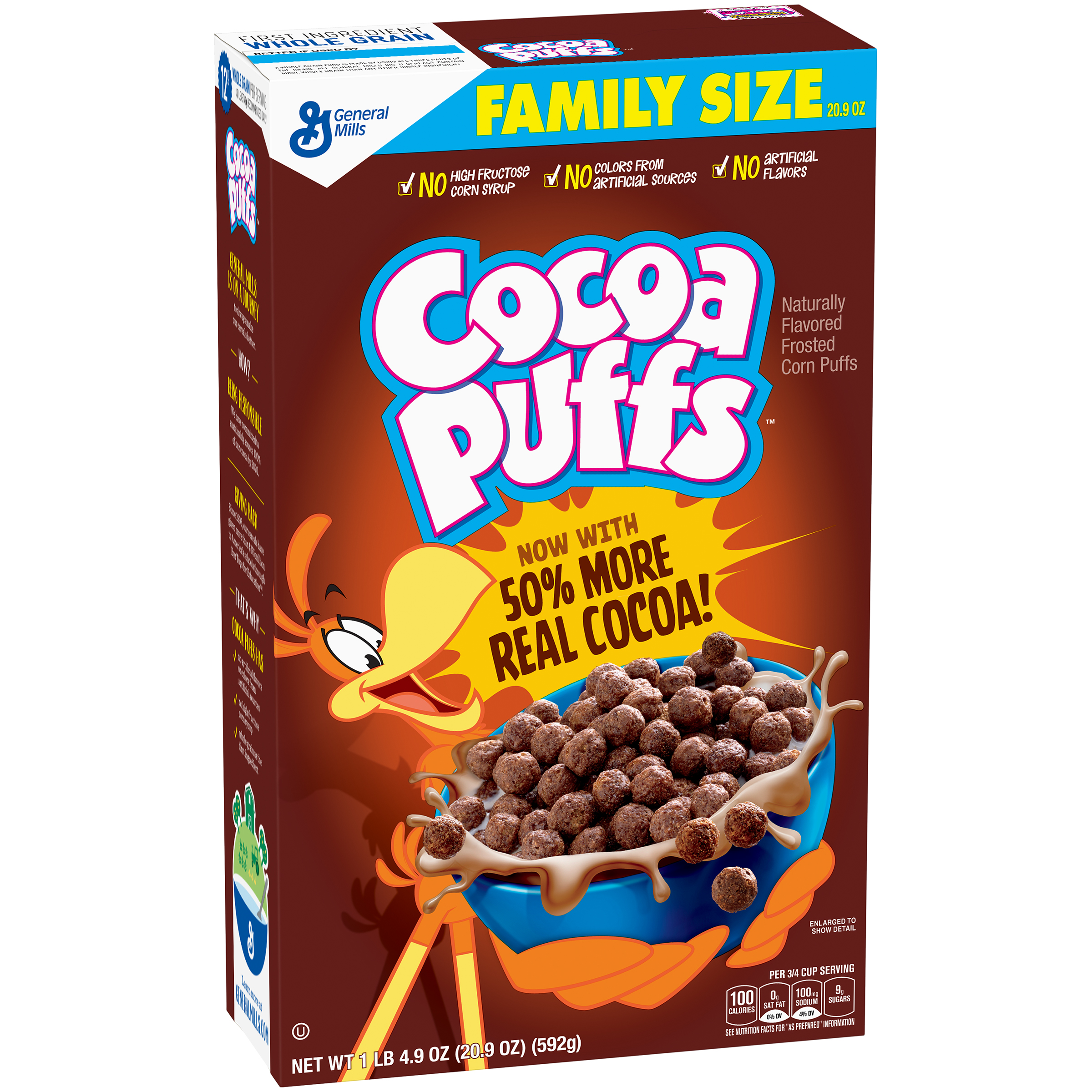 Cocoa Puffs Chocolate Cereal 20.9 oz Box