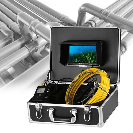 Lixada 20M / 30M Cable Drain Pipe Sewer Inspection Camera Waterproof Industrial Endoscope Borescope Inspection System Snake Camera 7