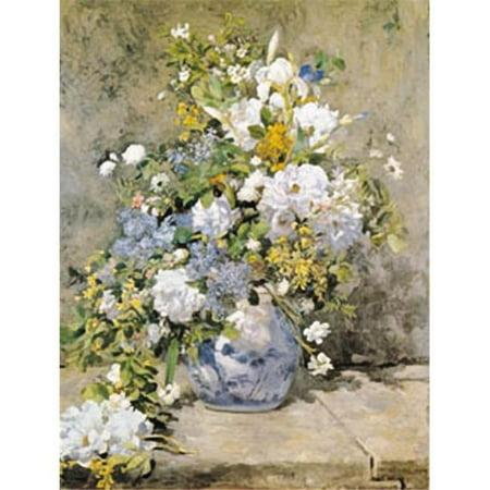 Hot Stuff 2003-11x14-FL Affiche printanier de bouquet de printemps de 11 x 14 po par Renoir - image 1 de 1