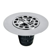 DANCO Hair Catcher Strainer Snare for Stand-Alone Shower Drain Cover, Chrome, 1-Pack (10529)