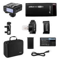 Flashpoint eVOLV 200 Pro TTL Pocket Flash Kit - Godox AD200 Pro + Flashpoint R2 Mark II ETTL 2.4 GHz Wireless Flash Trigger for Pentax (Godox X2)