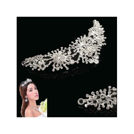 Bride Prom Wedding Party Hairband Rhinestone Crystal Flower Hair Clip Comb Pin Headband Headpiece](Flower Headpiece)