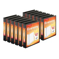 (12 Pack) Cardinal 1.5 Inch Economy Value ClearVue Binder, XtraLife Hinge, Blk
