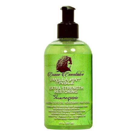 Evonne Essentials Vanilla Mint Tingle Extra Strength Restoring Shampoo