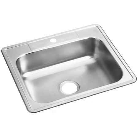 Elkay Dayton Stainless Steel 25u0022 x 22u0022 x 6-9/16u0022, Single Bowl Drop-in Sink