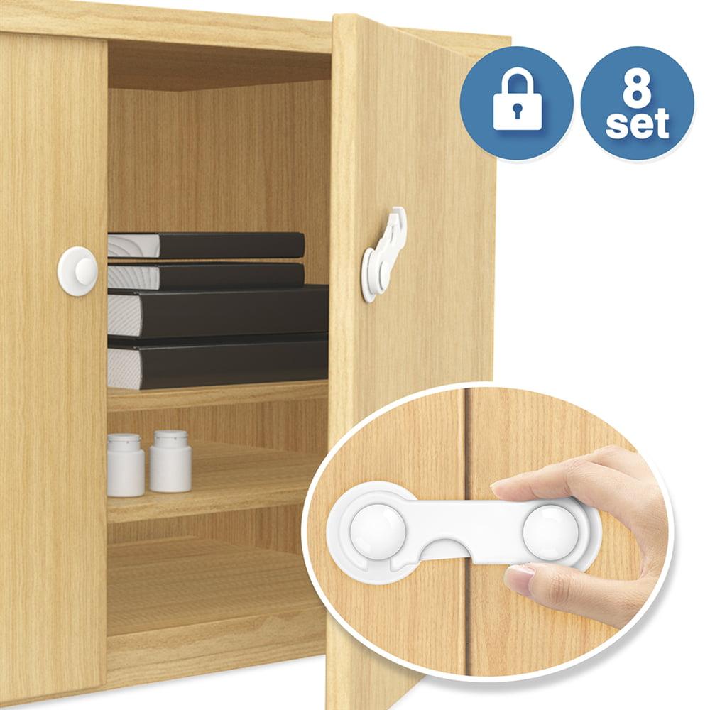 2 Child Infant Baby Safety Drawer Door Cabinet Cupboard U Shape Security Lock C