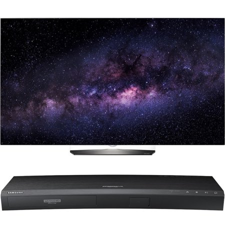 LG OLED55B6P 55-Inch 4K UHD Smart OLED HDR TV with Samsung UBD-K8500 3D Wi-Fi 4K Ultra HD Blu-ray Disc Player