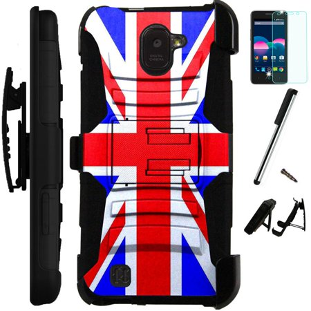 super popular d915e 6899b UPC 707959050284 - For ZTE Jasper LTE Z718TL Case Heavy Duty Hybrid ...