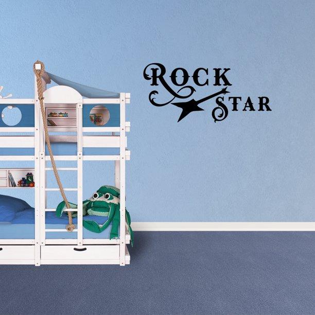 Wall Decal Quote Rock Star Vinyl Sticker Nursery Wall Decor Childrens Room Sign Pc706 Walmart Com Walmart Com