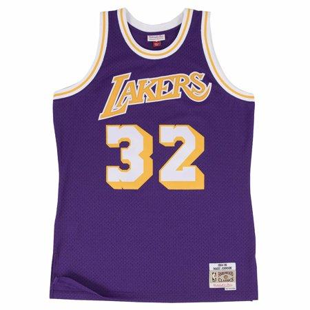 Joe Johnson Jersey - Mitchell And Ness Magic Johnson Lakers Purple Swingman Jer ( 353J-329FGYEJH )