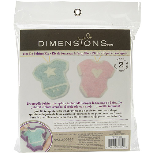 Dimensions Needlecrafts Try Needle Felting Baby Kit Multi-Colored