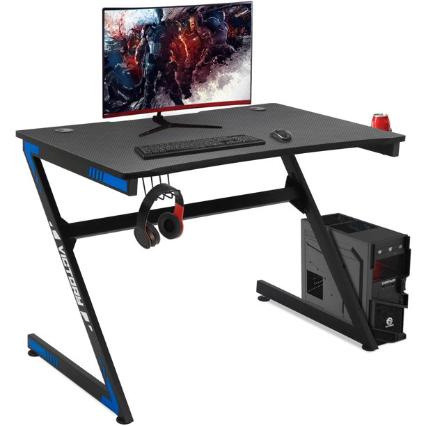 omputer Desk Workstation Gaming PC Desk Home Office Student Table with Cup & Headphone Holder, Writing Table