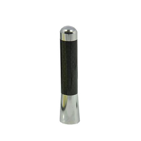 5 inch / 127 mm JDM SILVER SHORT UNIVERSAL ANTENNA CARBON FIBER FAST (Universal Carbon Fiber)