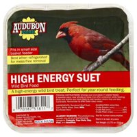 Audubon Park 1845 High Energy Suet Wild Bird Food, 11.75 oz, Bag, Suet 12 Pack