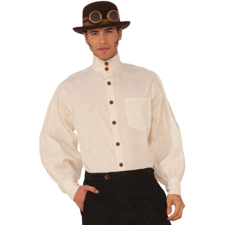 Beige Steampunk Shirt Men's Adult Halloween Costume