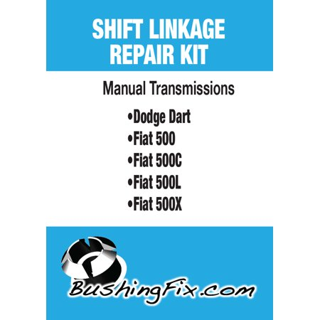 Fiat 500 Abarth Manual Transmission shift cable repair kit with replacement Bushing Shift Cable Bushing Kit
