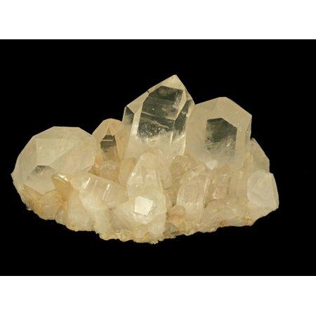 Quartz Crystals, Hot Springs, Arkansas, USA, Specimen Courtesy Jmu Mineral Museum Print Wall Art By Scientifica