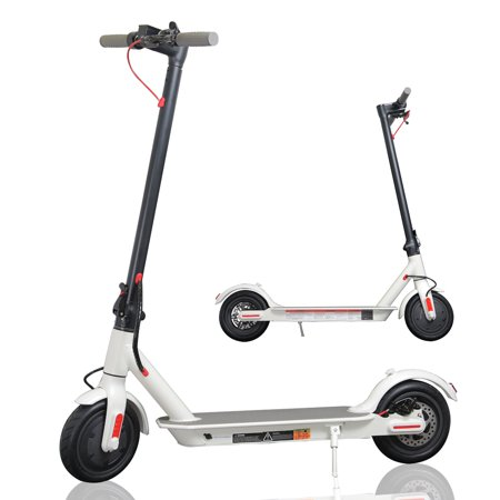 CHO Electric Scooter Portable Lightweight Foldable Folding Commuter Kick Scooter Disc Brake LED Light E-Scooter with Durable 8.5