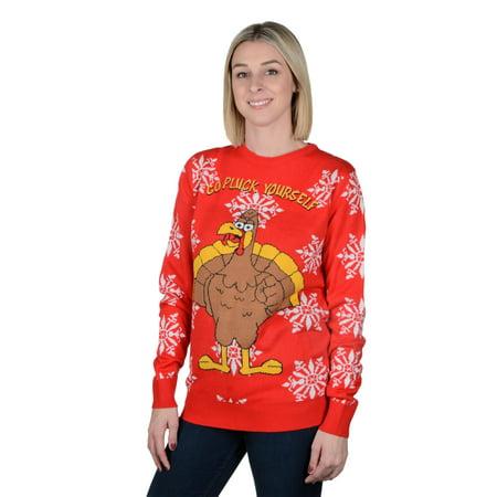 RWB Classic Holiday Ugly Christmas Sweater Pullover Slim Fit Red](Red Ugly Christmas Sweater)
