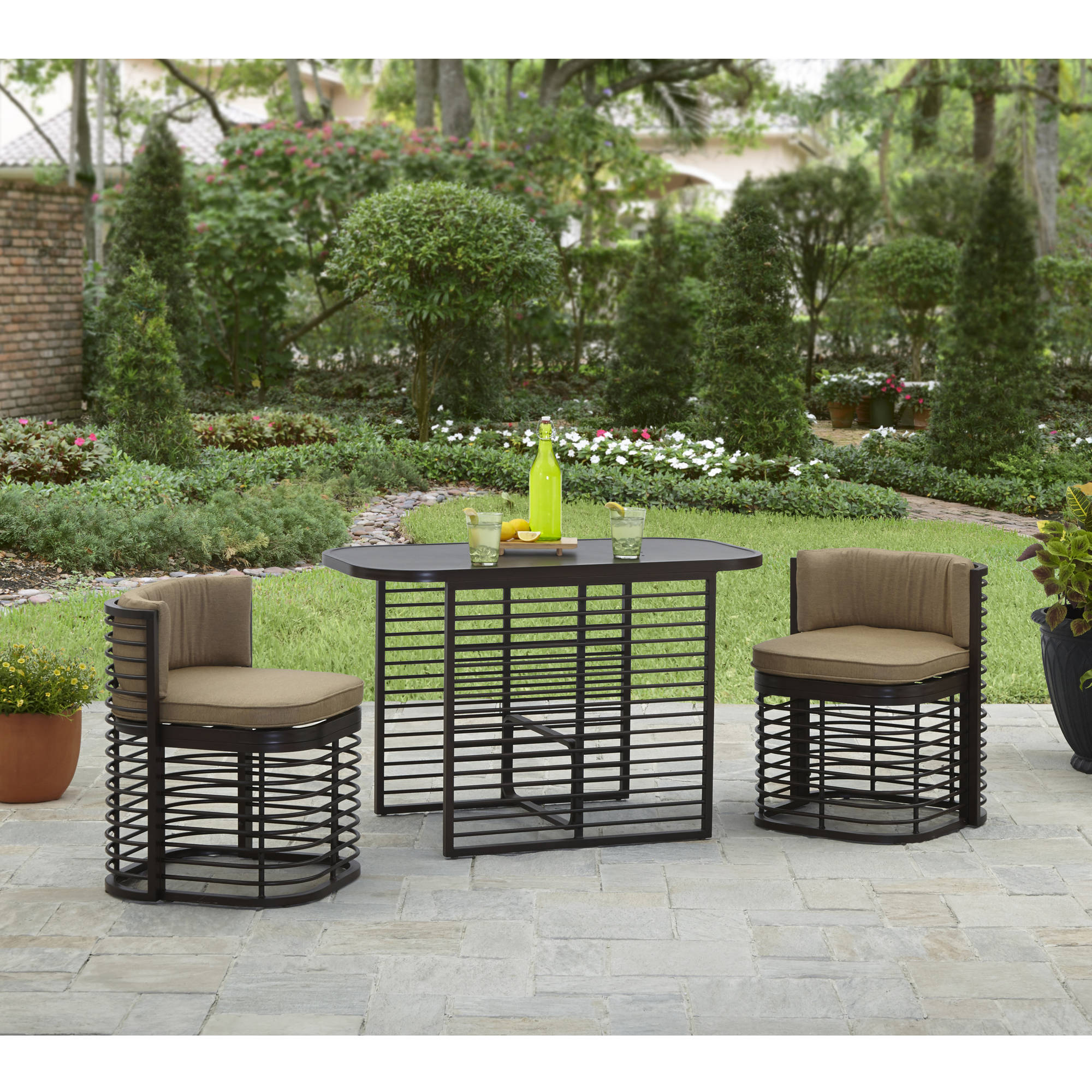 Better Homes and Gardens Murray Hill 3 Piece Outdoor Bistro Set by Hangzhou Jinshi Hardware Co., Ltd.