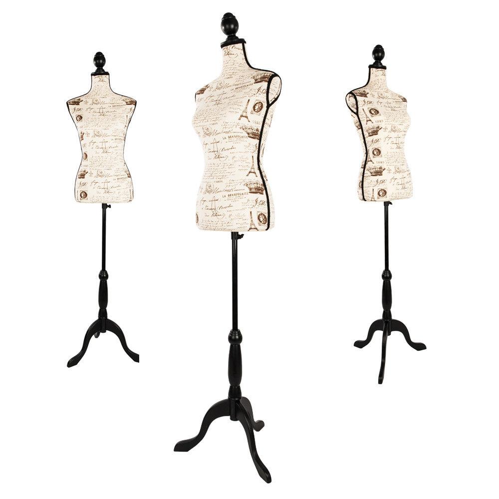 Ktaxon Female Mannequin Hollow Foam Torso Clothing Display W/Black Tripod Stand New (Printing)