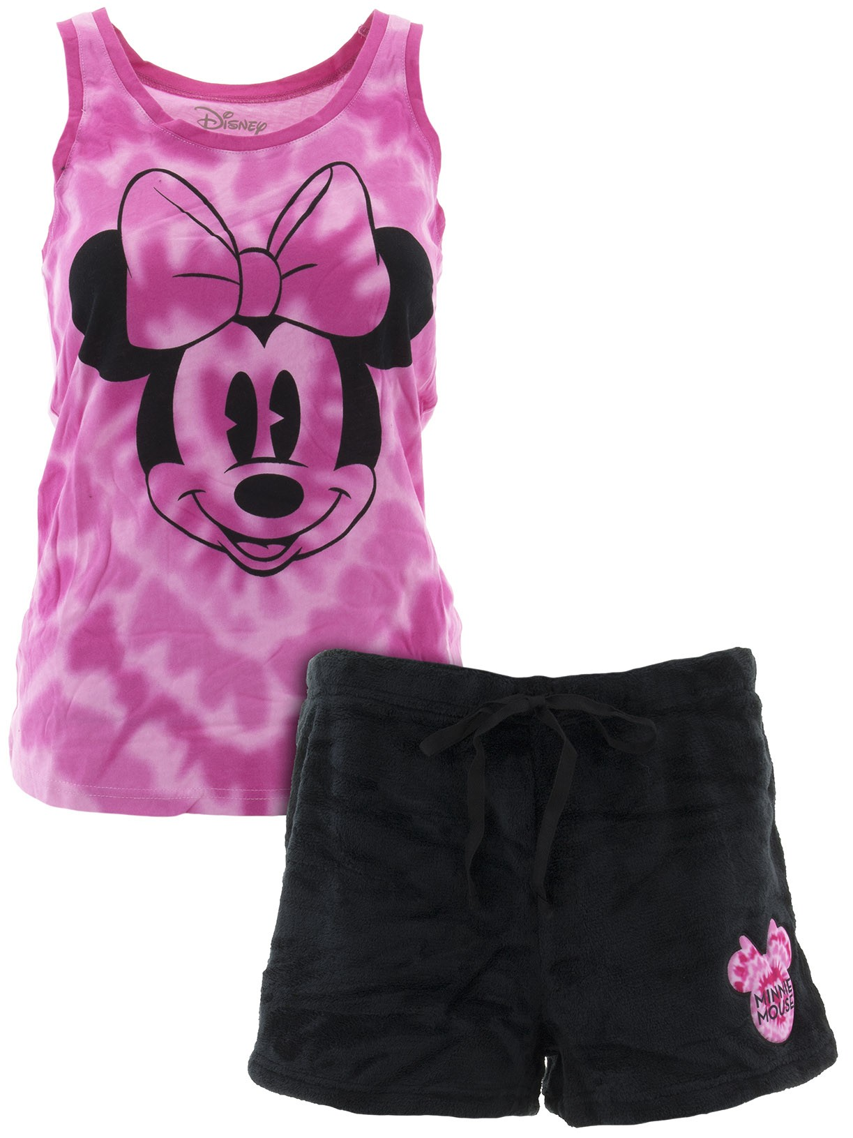 Minnie Mouse Women's Tank Top And Shorts Pajamas Set